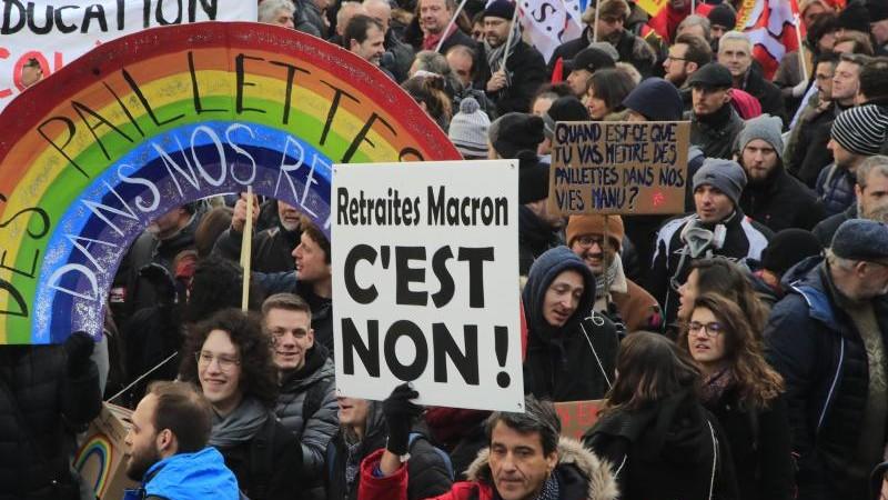 Frankreich: Wieder viel Protest gegen Rentenreform