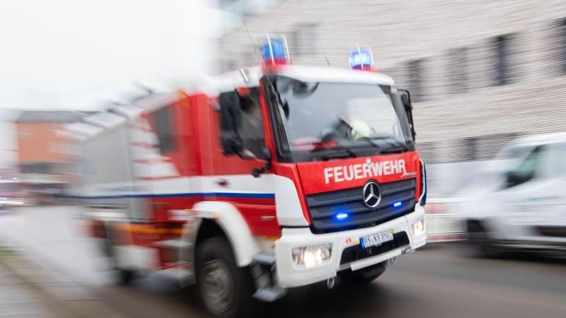Brandstiftung in Leipziger Kleingarten: Feuerwehreinsatz