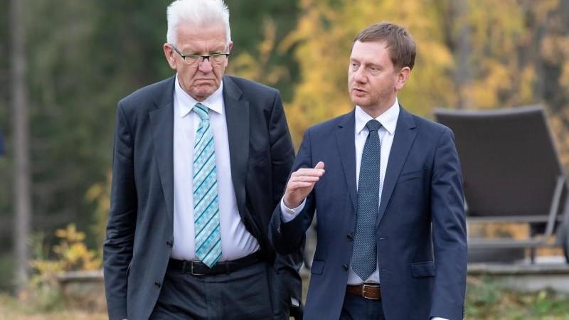 Regierung Dresden Kretschmer Und Kretschmann Zu Besuch In Bautzen Politik Sz De