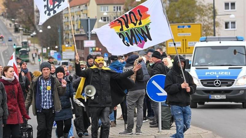 Demonstrationen - Frankfurt (Oder) - Demo gegen Corona-Maßnahmen an polnischer Grenze