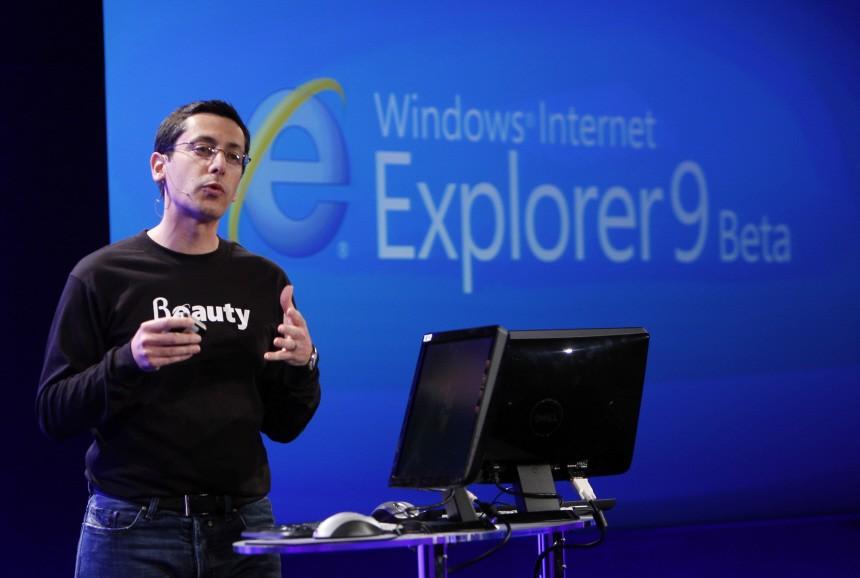 Microsoft Corp Dean Hachomovitch unveils Internet Explorer 9 Beta version in San Francisco
