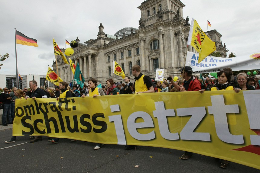 Protests Against Germany's Nuclear Power Extension