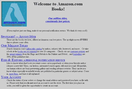 Screenshot Amazon 1996