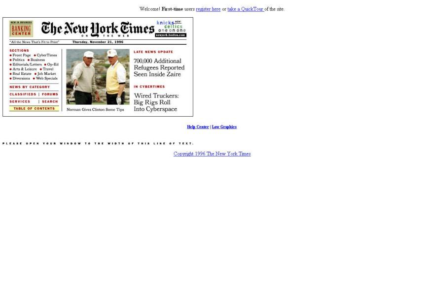 Screenshot NYTimes 1996