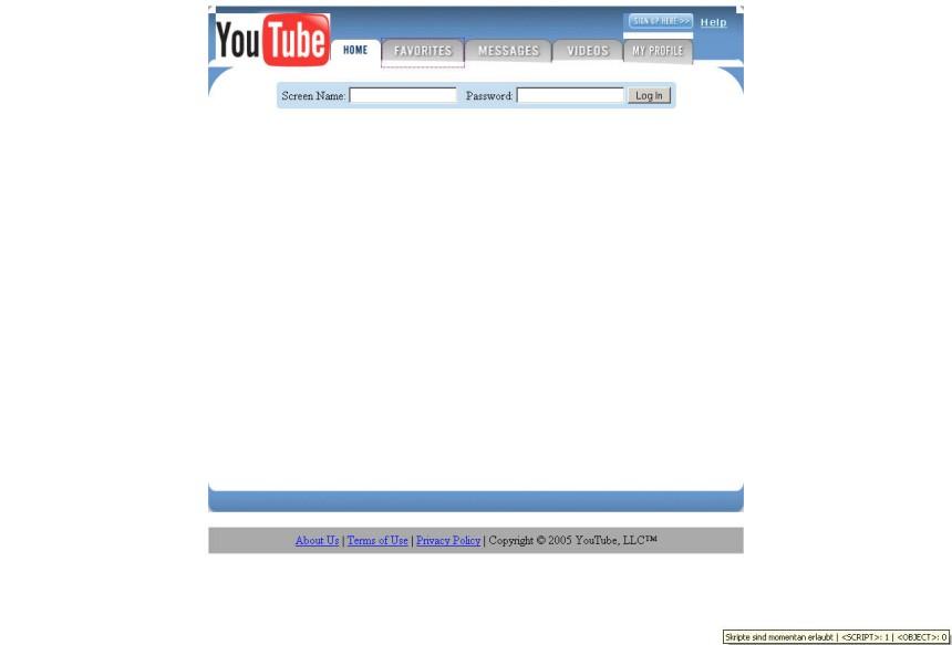 Screenshot YouTube 2005