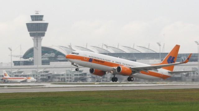 Flughafen München: efm.  Flughafen München / Südbahn / Start / Spotter