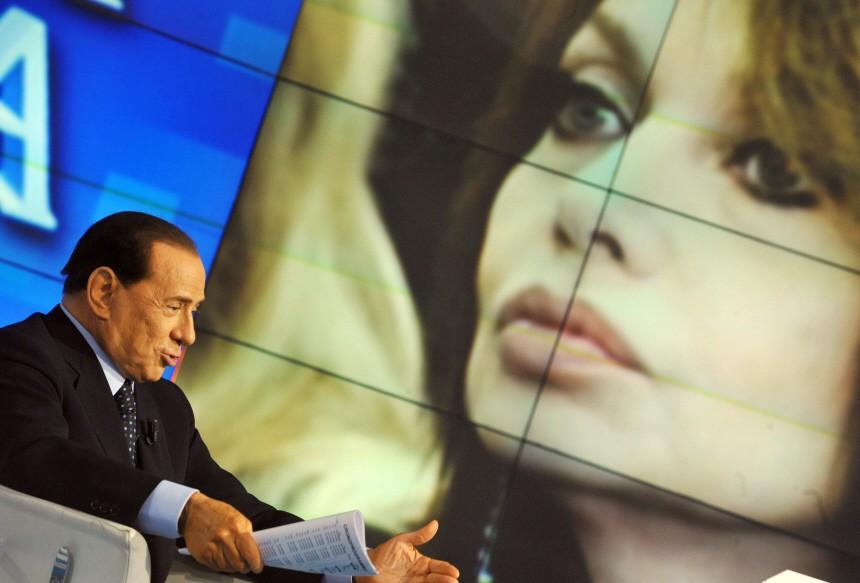 Silvio Berlusconi zu Gast in einer Fernsehshow