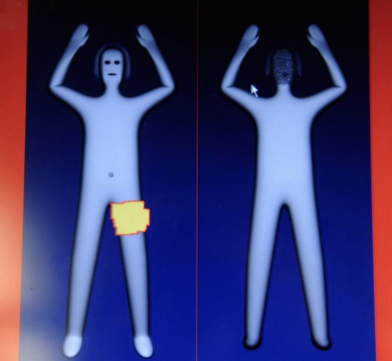 Flugsicherheit Körperscanner, dapd