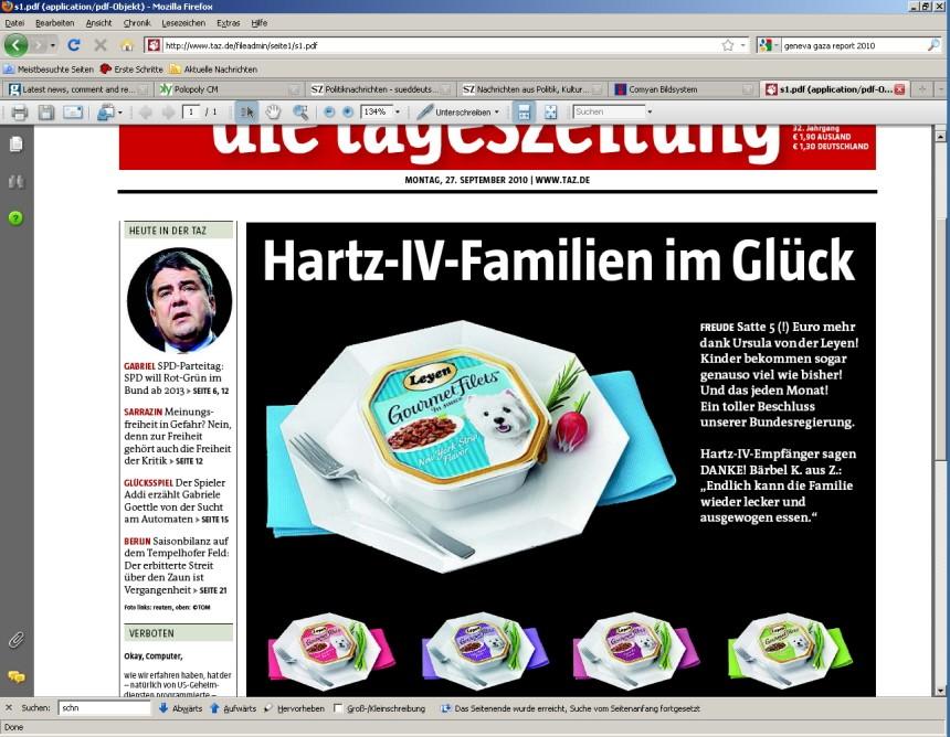 taz-Cover 27.9.2010