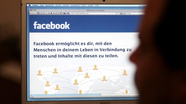 Kinderdienst: Menschen koennen die Internetseite Facebook nicht erreichen
