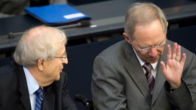Bundestag  - Brüderle und Schäuble