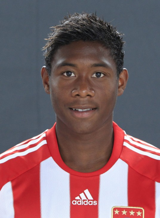 Bayern Munich's Alaba poses during official team photo session in Munich
