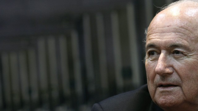 FIFA President Sepp Blatter speaks during a news conference at Spain's Sports Ministry in Madrid