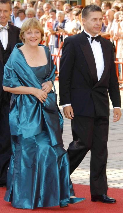 Angela Merkel und Joachim Sauer ín Bayreuth, 2003