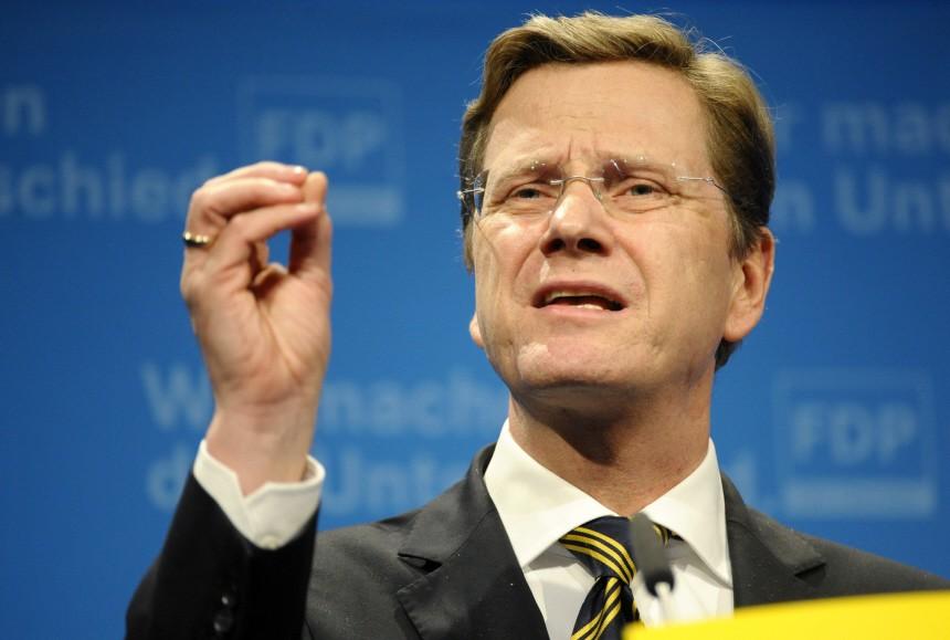 Aussenminister und Vizekanzler Guido Westerwelle (FDP)