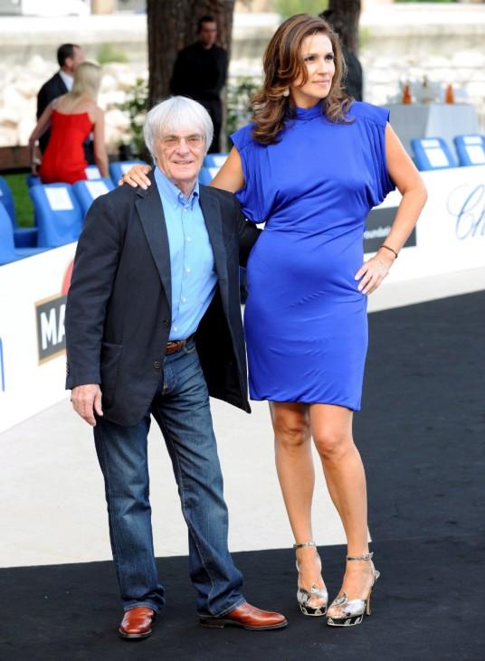 Bernie Ecclestone und Frau Slavica