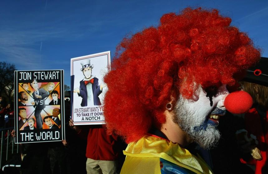 Jon Stewart And Stephen Colbert Hold Rally On National Mall