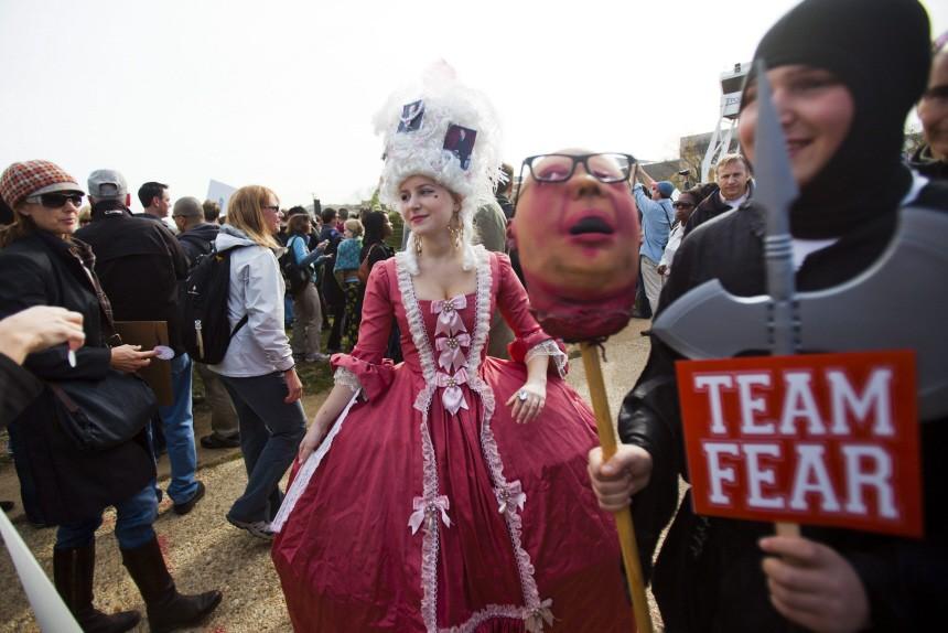 Endspurt vor Kongresswahl - Kundgebung in Washington