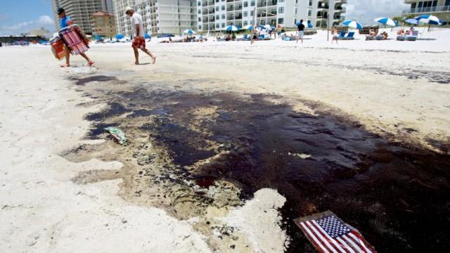 Ölpest im Golf von Mexiko - US-Flagge