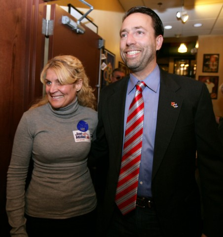 Senate Candidate Joe Miller And Supporters Await Election Results