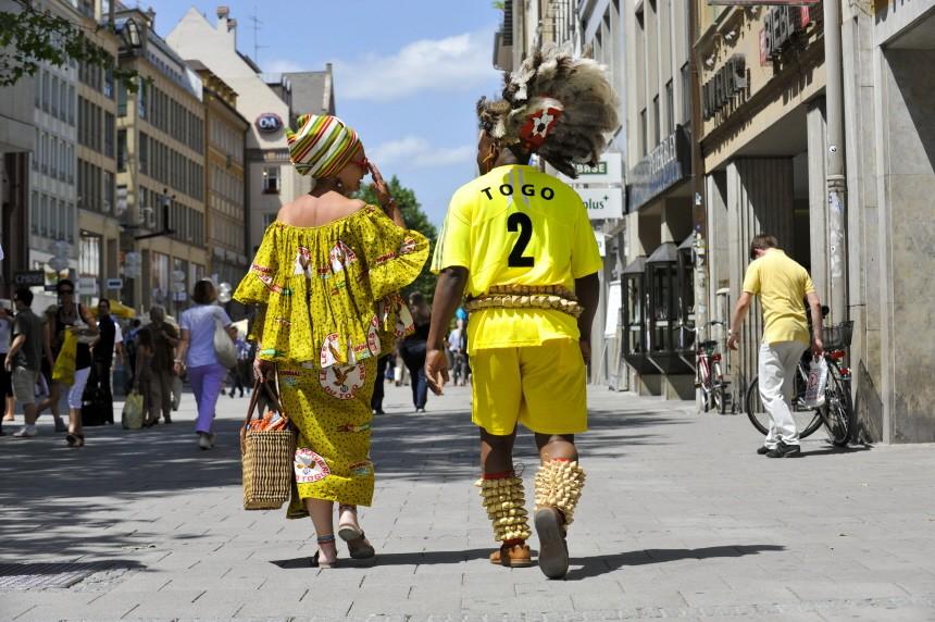 Togolesische Touristen in München, 2010