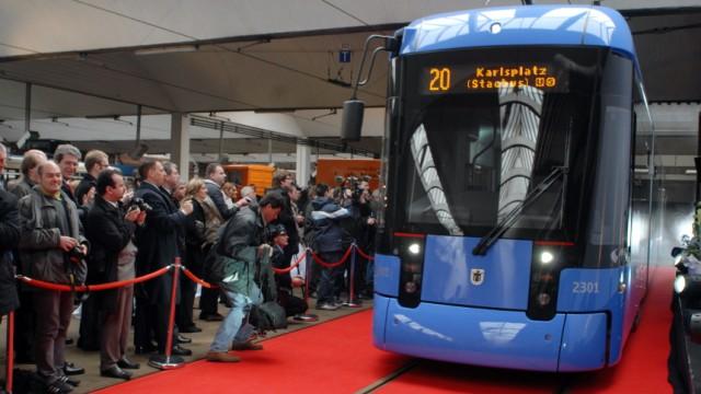 MVG präsentiert neue Straßenbahn, 2009