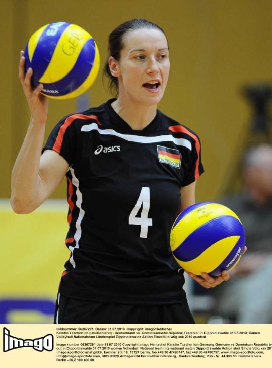 Kerstin Tzscherlich Volleyball Deutsche Nationalmannschaft Libero