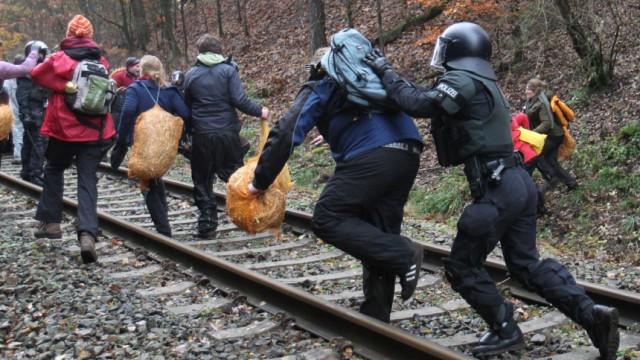Proteste gegen Castor-Transport