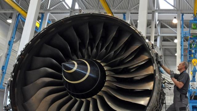 Öllecks an A380-Triebwerken
