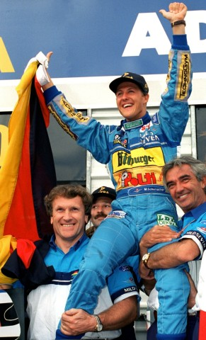 Michael Schumacher wird erster deutscher Formel-1-Weltmeister, 1994