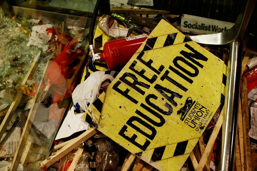 Students Hold A Mass Rally To Protest Against Spending Cuts