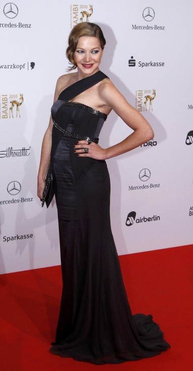 German actress Herzsprung arrives on red carpet for 62nd Bambi media awards ceremony in Potsdam
