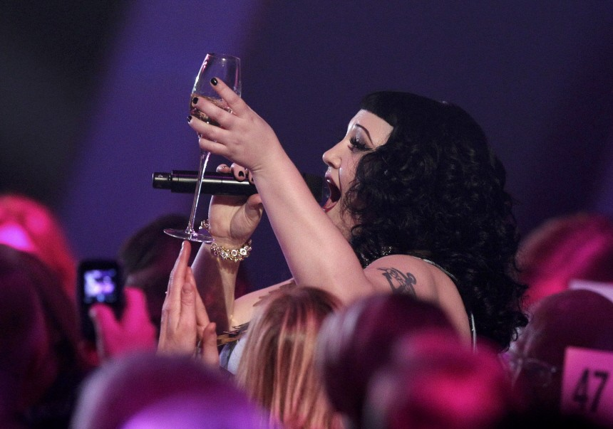 Singer Ditto of U.S. band Gossip performs during 62nd Bambi media awards ceremony in Potsdam