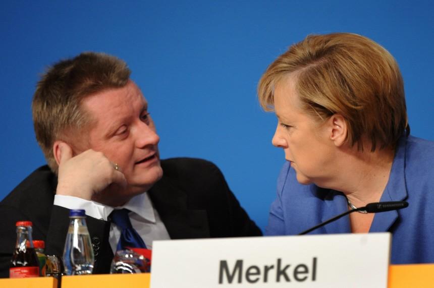 CDU-Parteitag - Merkel, Gröhe