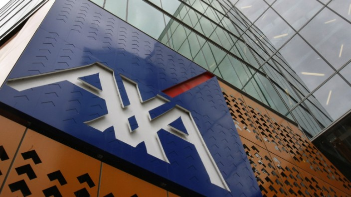 The AXA Asia Pacific logo is seen at its headquarters in Melbourne