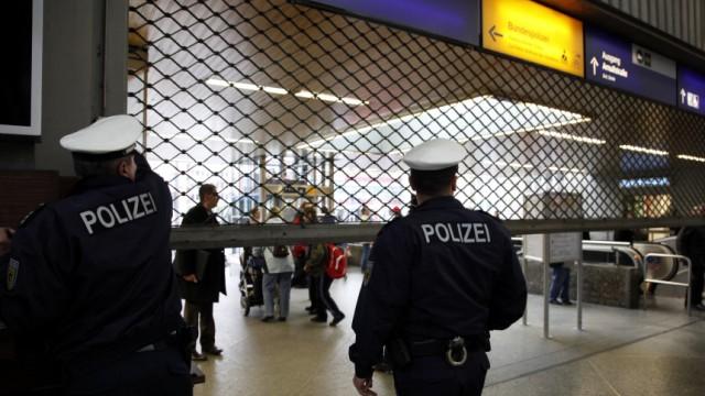 Sicherheitsvorkehrungen am Muenchner Hauptbahnhof