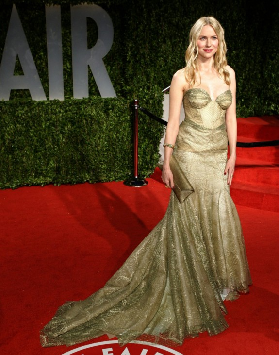 Actress Naomi Watts poses as she arrives at the 2009 Vanity Fair Oscar Party in West Hollywood