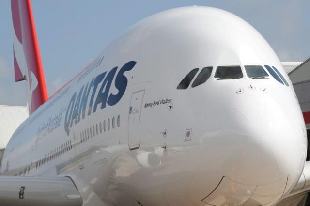 Neuer A380 Airbus für Quantas in Australien angekommen