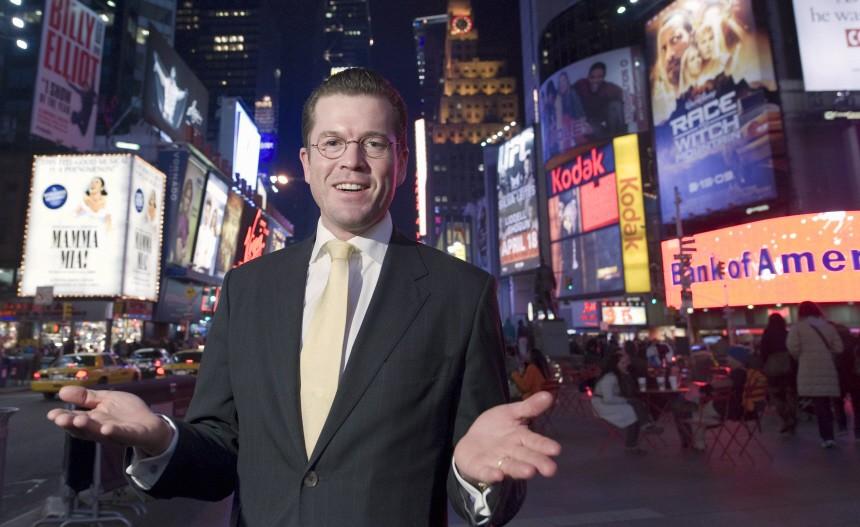 Wirtschaftsminister Guttenberg zu Antrittsbesuch in den  USA
