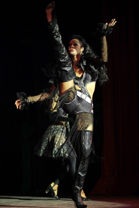 Drag queen 'Palonma' performs during an AIDS awareness event  in Havana