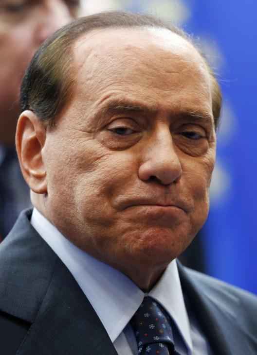 File photo of Silvio Berlusconi in Brussels