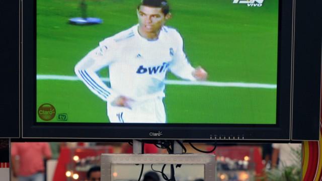 """Fußball: Barça gegen Real: Cristiano Ronaldo war bei der Übertragung des """"Clásico"""" auf keinem deutschen TV-Bildschirm zu sehen."""