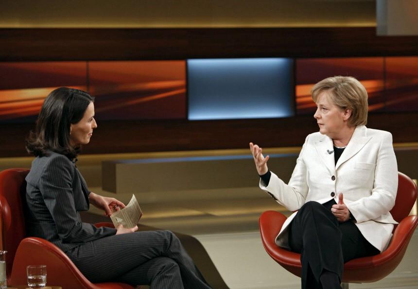 Bundeskanzlerin Merkel zu Gast bei Anne Will
