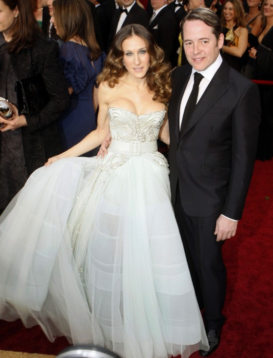 Actress Sarah Jessica Parker and actor Matthew Broderick arrive at the 81st Academy Awards in Hollywood