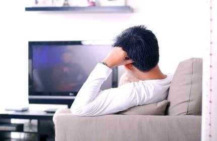 Fernsehen Mann Fußball Gewalt