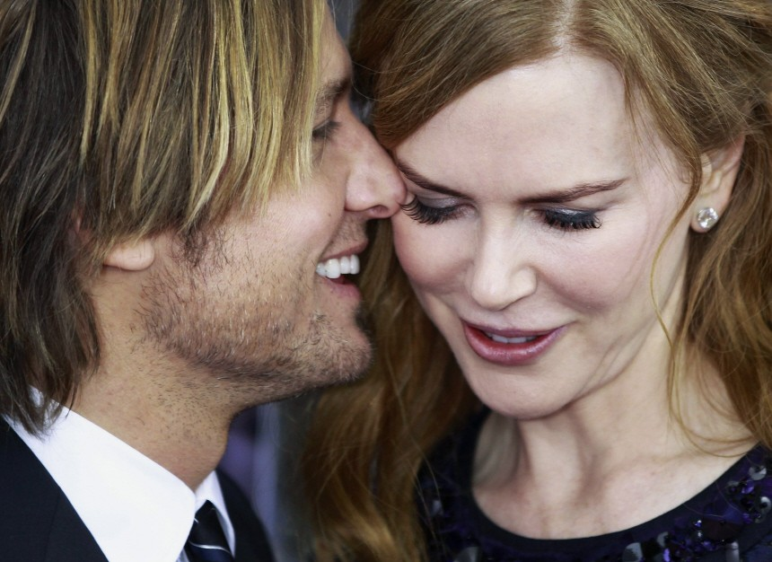 Actress and cast member Nicole Kidman arrives with Keith Urban for the premiere of the film 'Rabbit Hole' in New York