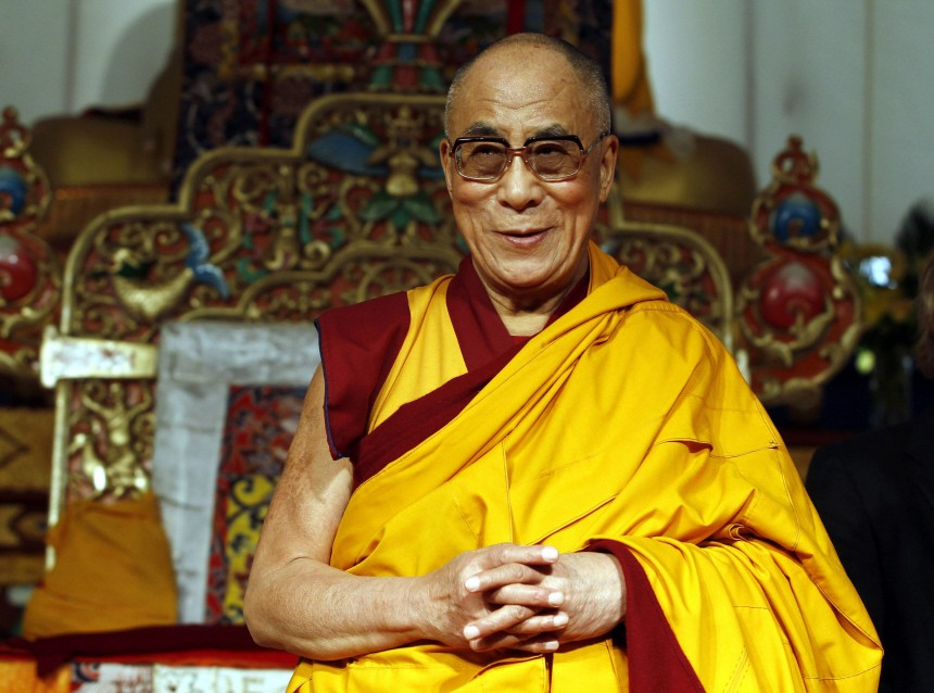 Tibet's exiled spiritual leader The Dalai Lama smiles during a ceremony in Toronto