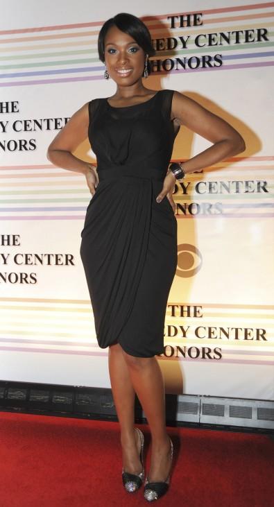 Jennifer Hudson arrives on the red carpet for the Kennedy Center Honors at the Kennedy Center in Washington