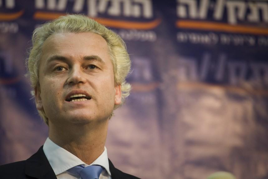 Dutch right-wing politician Geert Wilders in Israel