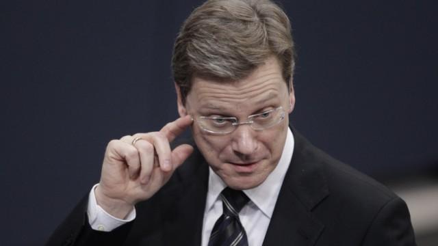 Kämpft um sein politisches Überleben: Guido Westerwelle, Außenminister und FDP-Vorsitzender.